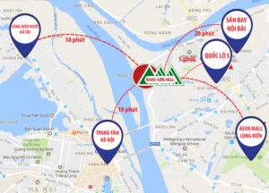 liên kết xung quanh Vị trí Dự án Khai Sơn City