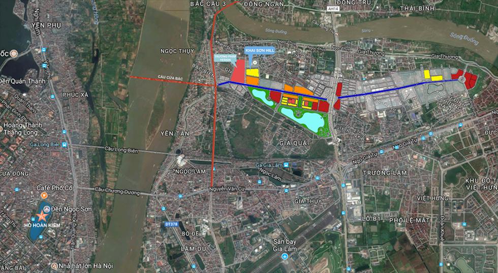 Bản đồ chi tiết Vị trí Dự án Khai Sơn City Long biên