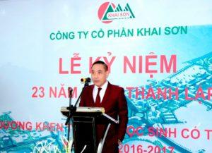Chủ đầu tư Dự án Khai Sơn City là công ty cổ phần Khai Sơn