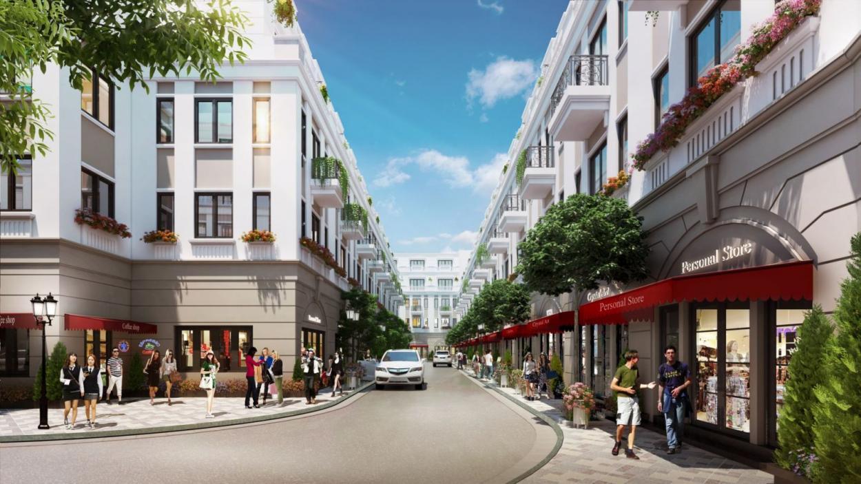 Dãy nhà phố Shophouse Khai Sơn City kinh doanh khá tốt