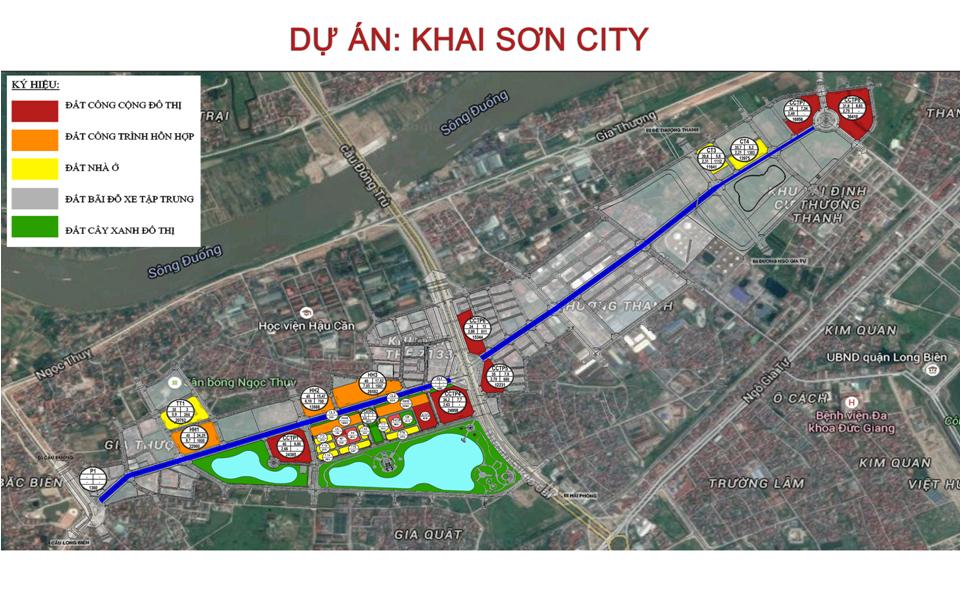 Phối cảnh Dự án Khai Sơn City - mảnh đất vàng Long Biên
