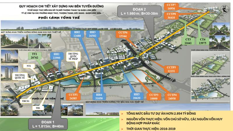 Mặt bằng Quy hoạch dự án Shophouse Khai Sơn Town Long Biên