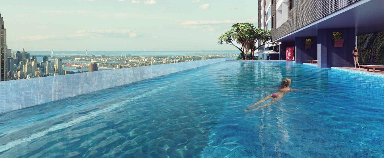 Khu vực bể bơi tại Khai Sơn Hill